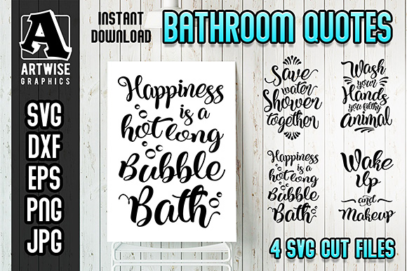 Funny Bathroom Quotes And Sayings Graphic By Artwise Graphics Creative Fabrica