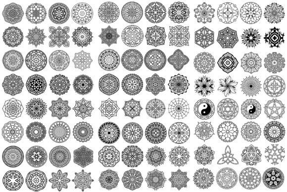 New 100 Vector Mandala Ornaments Very Cheap Price