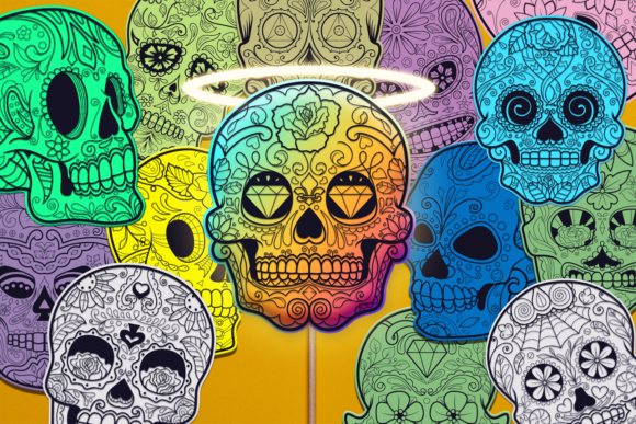 Sugar Skull Bundle With 54 Designs Graphic By Craft N Cuts Creative Fabrica