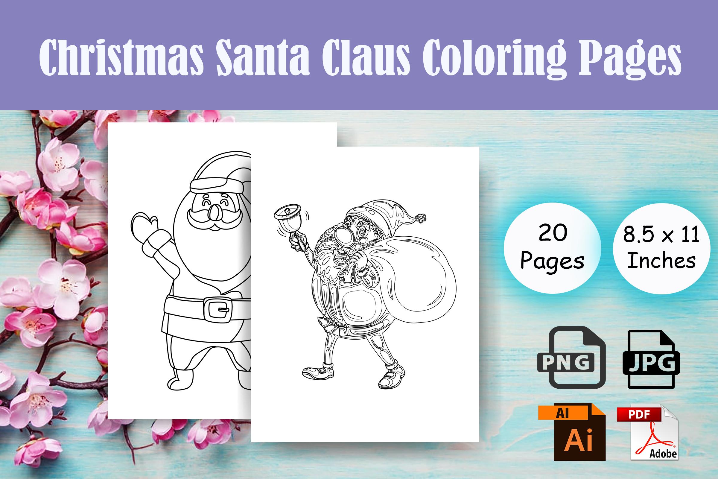 Christmas Santa Claus Coloring Page Kdp Graphic By Sei Ripan Creative Fabrica