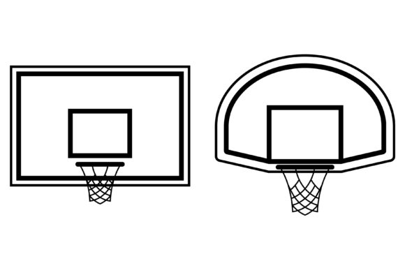 Basketball Backboard Icon with Ring Graphic by RNko
