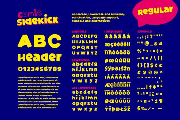 Comic Sidekick Fonts 15013401 3