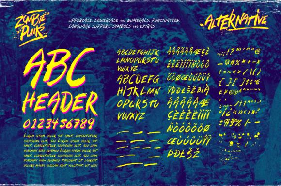 Zombie Punks Fonts 15014480 4