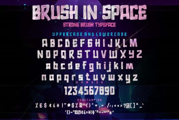 Brush in Space Fonts 17977368 2