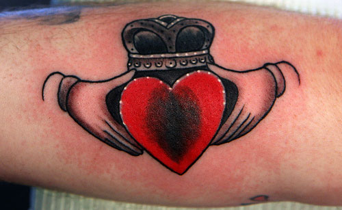 Back Claddagh Tattoos Ring