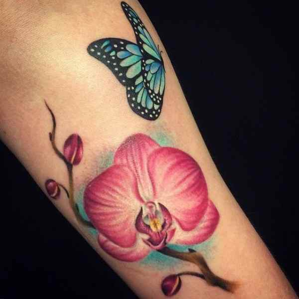 20 Orchid Butterfly Tattoos On Wrist Ideas And Designs