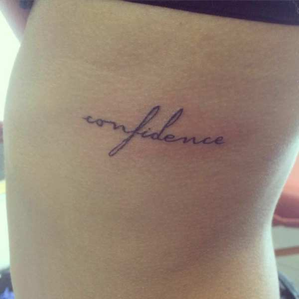 confidence word side tattoo - creativefan