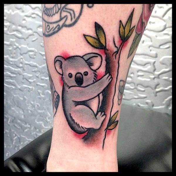 20 Koala Bear Cartoon Tattoos Ideas And Designs