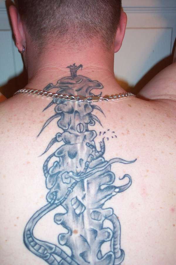 spinal cord tattoo design creativefan