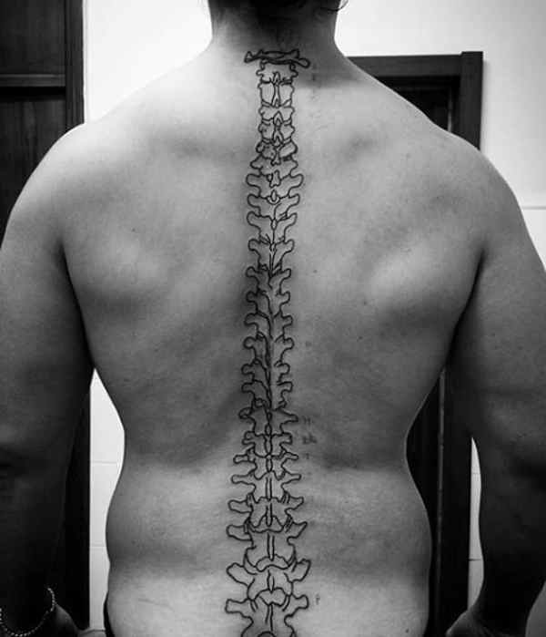 spine outline tattoo - creativefan