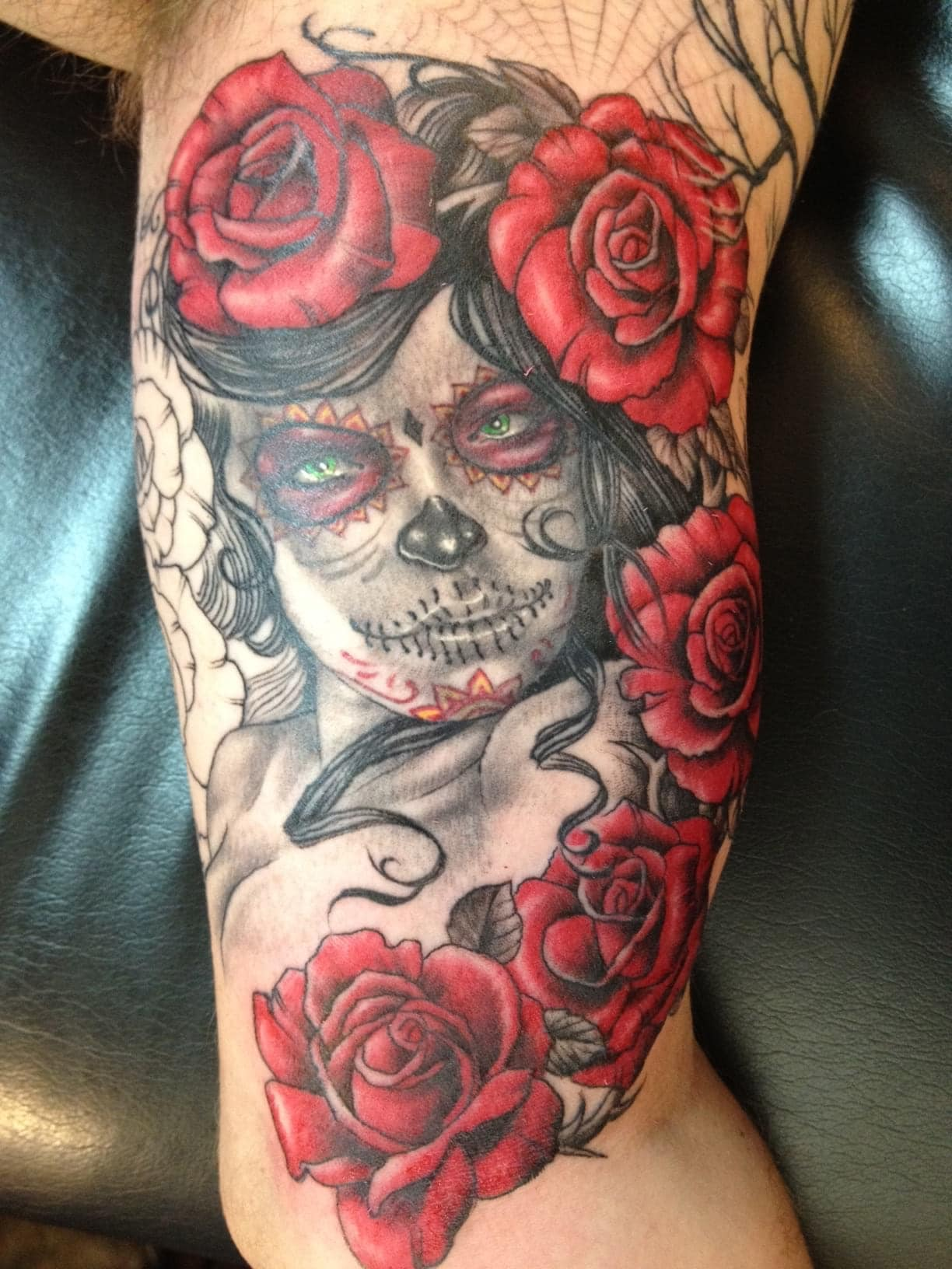 sugar skull girl with