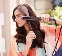ironing hair