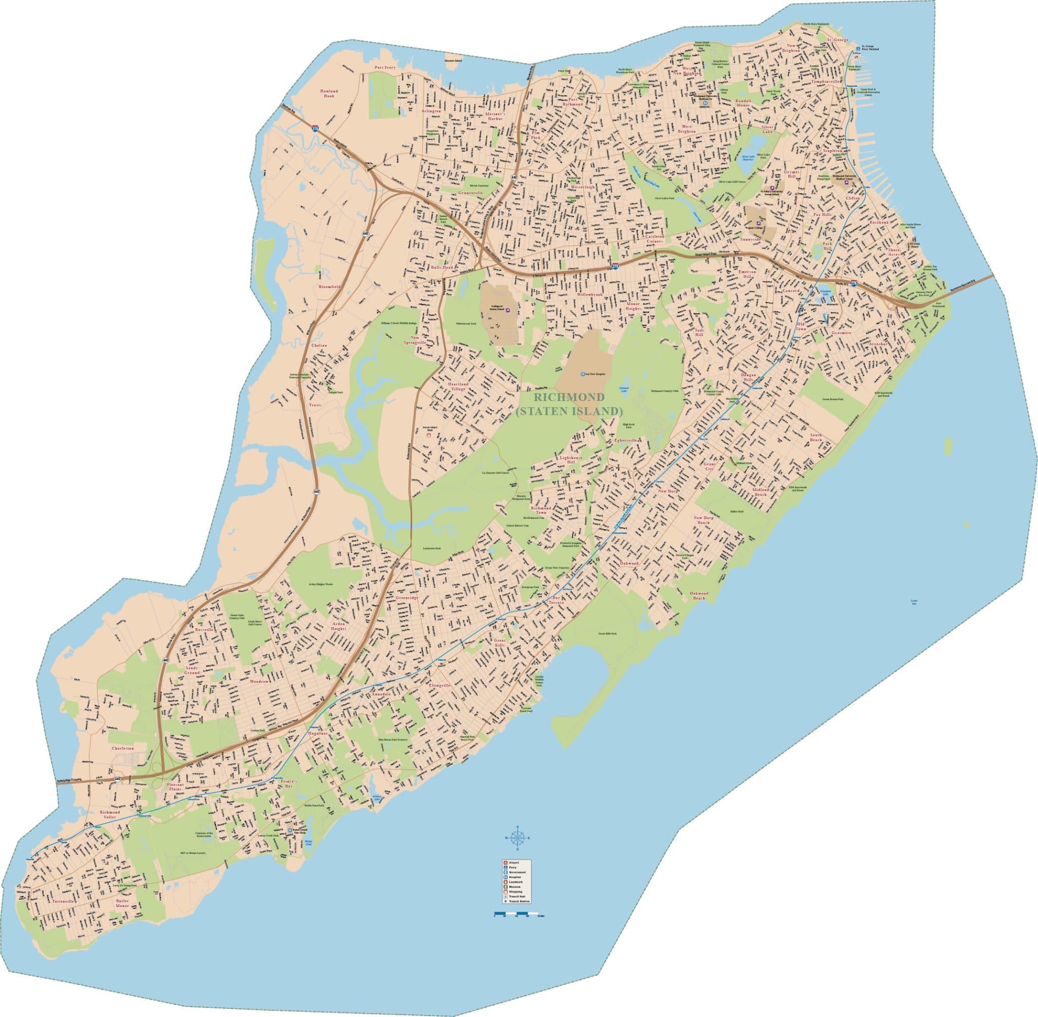 Staten Island Zip Code Map Pdf