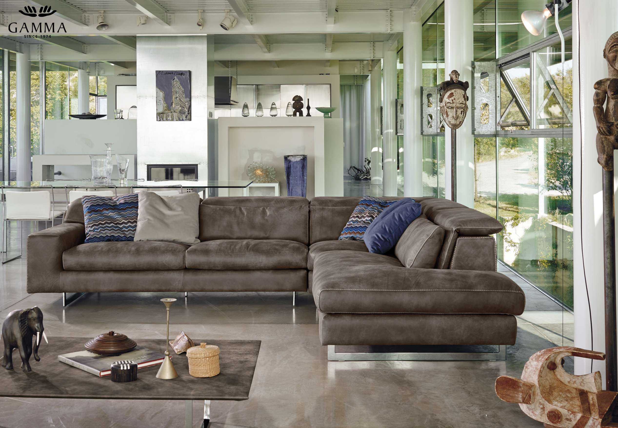 gamma sofas 100 cotton sofa slipcovers modern sound leather sectional online by
