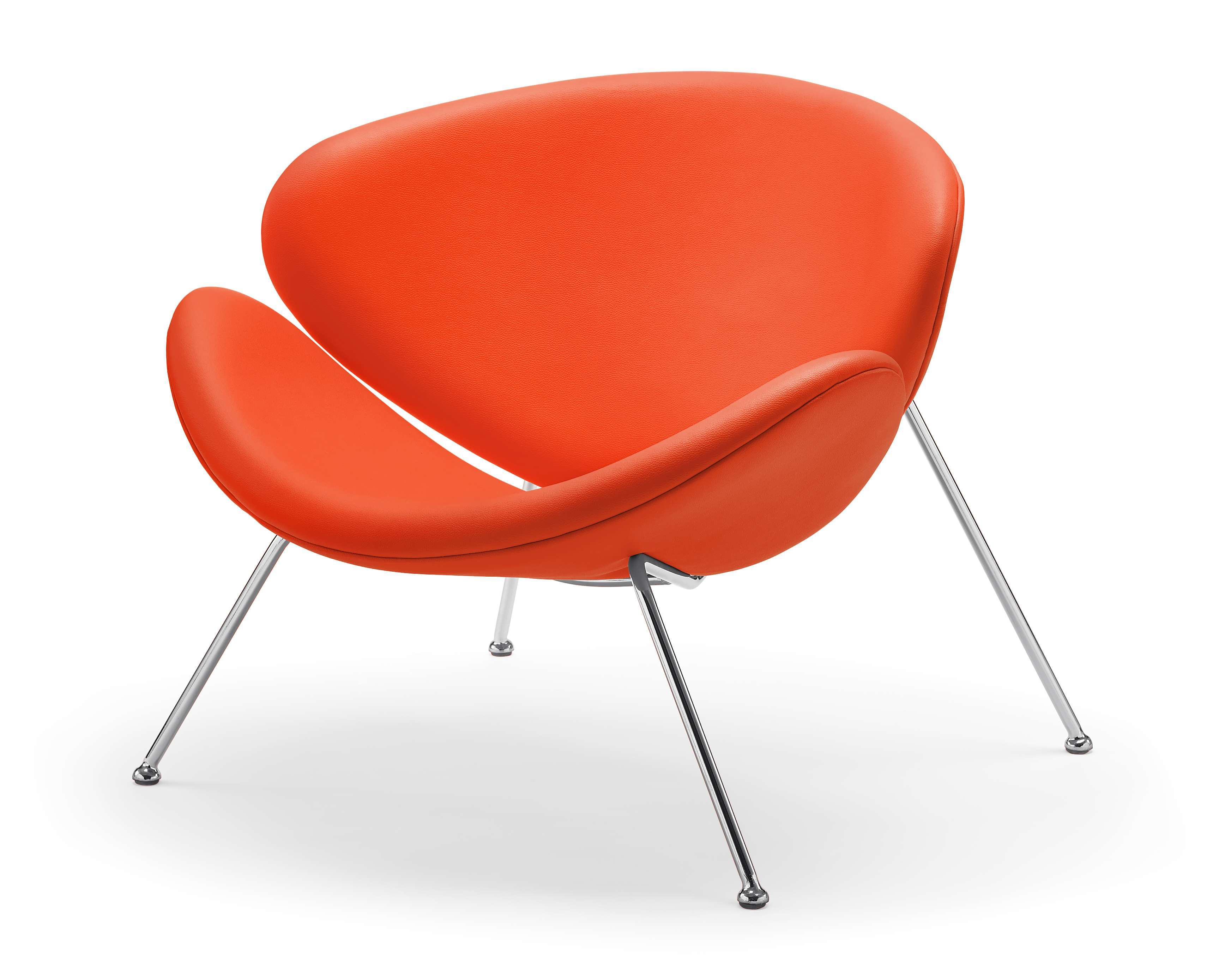 modern orange chair high back wing spike accent for living room