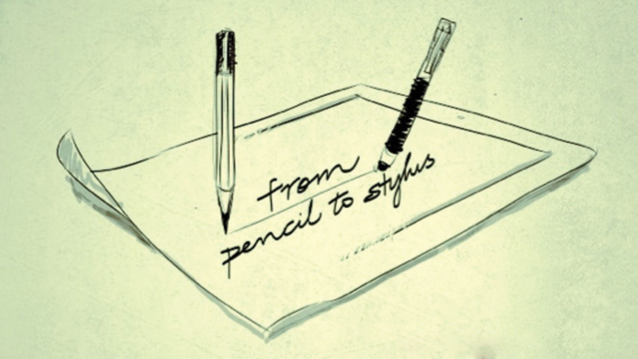 hight resolution of art from pencil to stylus
