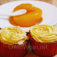 Cupcakes de terciopelo naranja