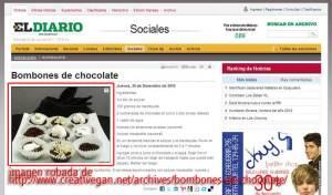 diario de coahuila robando fotos de CreatiVegan.net