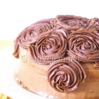 Tarta Dalia de vainilla y chocolate