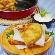 Tortilla de calabacín vegana