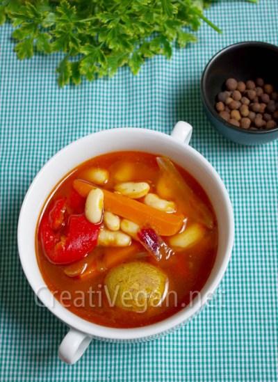 Fabada con verduras