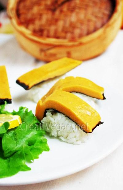 Sushi de salmón vegano