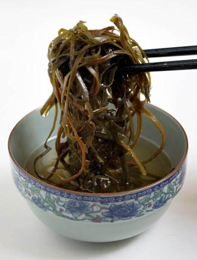 Algas arame hidratadas