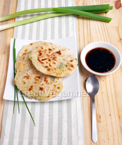 Tortitas chinas de cebolleta