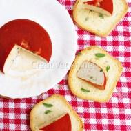 Queso vegano al ajo y cebollino de tres formas
