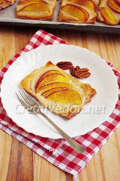 Tartaletas de nectarina y frangipan