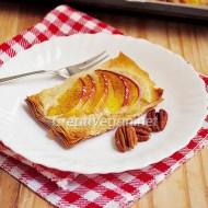 Tartaletas de nectarinas y frangipan