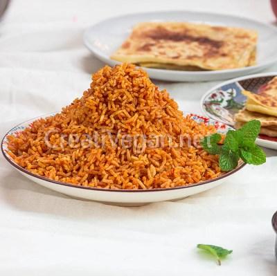 Jollof rice vegano