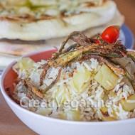 Bariis iyo bataato (pilaf de arroz con patatas y cominos)