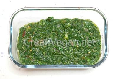 Relleno de espinacas para fatayer vegetal