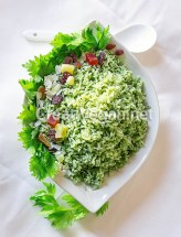Zamarod pulao (arroz con espinacas)