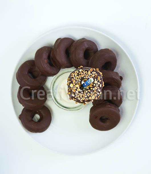 Aros de chocolate veganos
