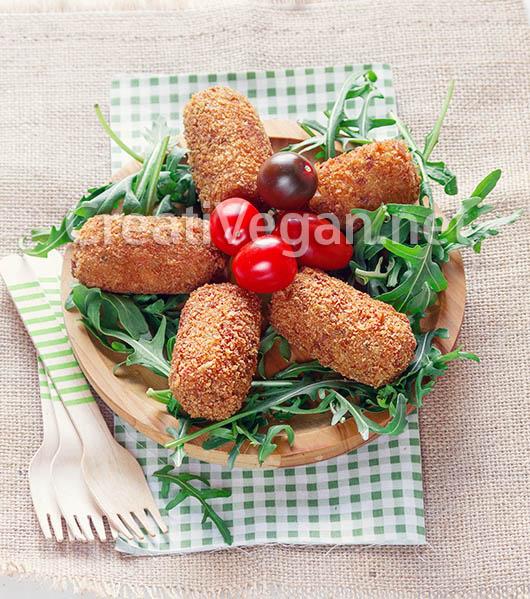 Croquetas veganas de verduras asadas