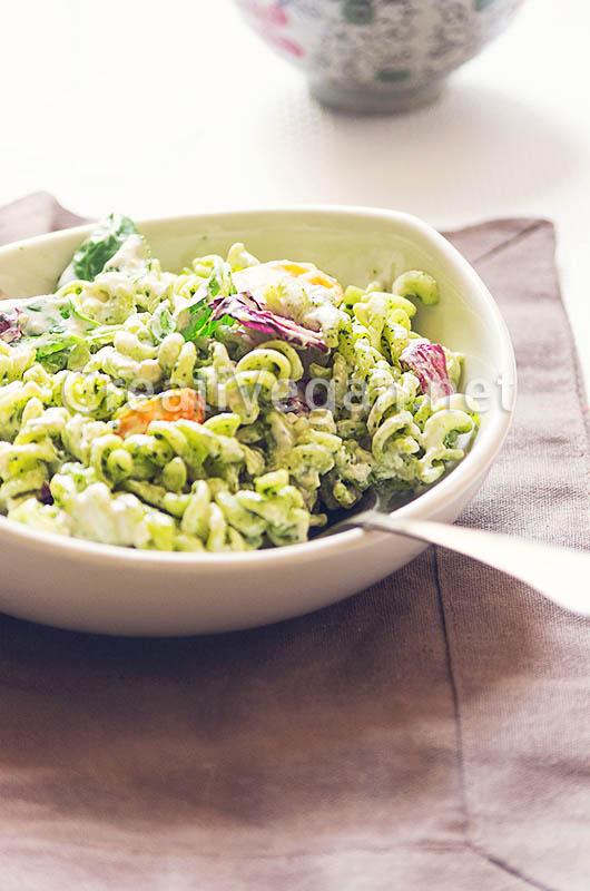 Ensalada de pasta verde - Ensalada fresca de pasta ...