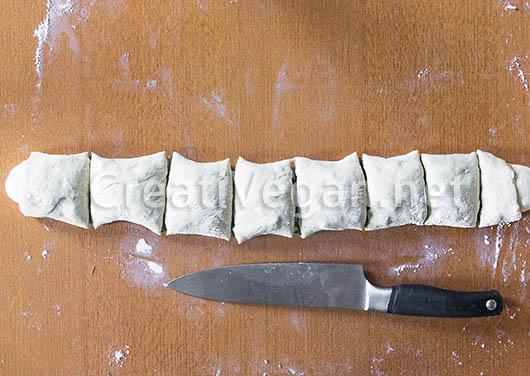 Proceso para hacer los panes de judías verdes