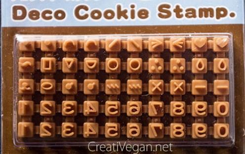 Estampador de galletas con números y símbolos - CreatiVegan.net