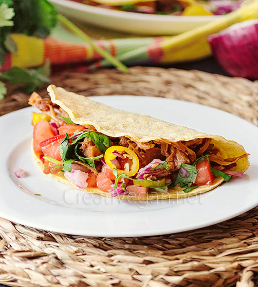 Tacos de jaca (veganos) - CreatiVegan.net