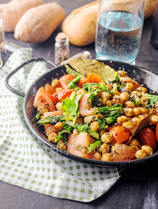 Garbanzos con grelos - CreatiVegan.net