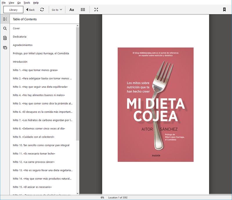 Libro: Mi Dieta Cojea, por Aitor Sánchez