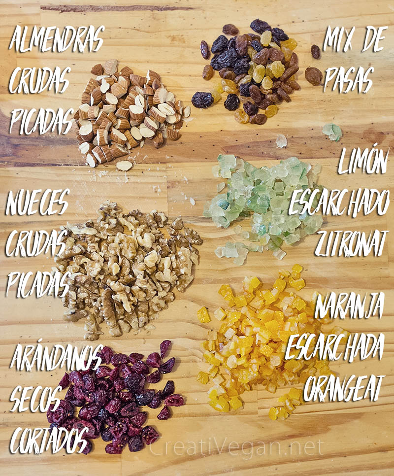 Stollen - ingredientes