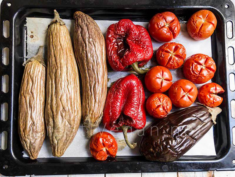 Ingredientes para zacusca