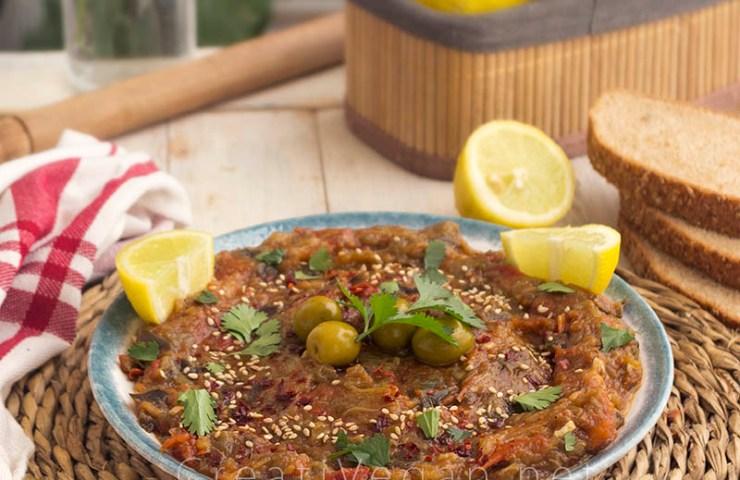 Zaalouk (caviar de berenjenas)