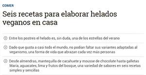 Eldiario - Artículo sobre helados veganos