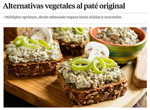 La Vanguardia - alternativas vegetales al paté
