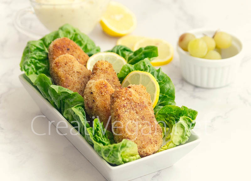 "Vegetable cutlets y mayonesa sin huevo de ""The Victory Cookery Book"""