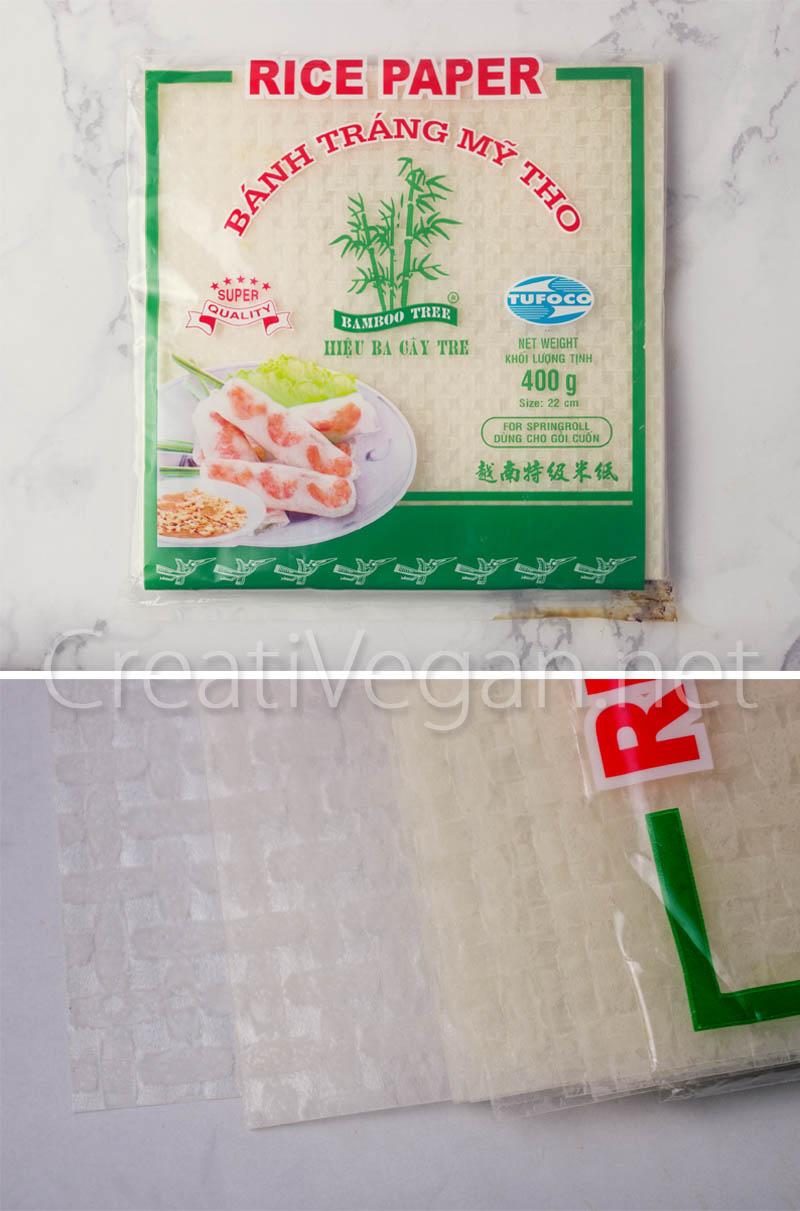 Obleas de papel de arroz